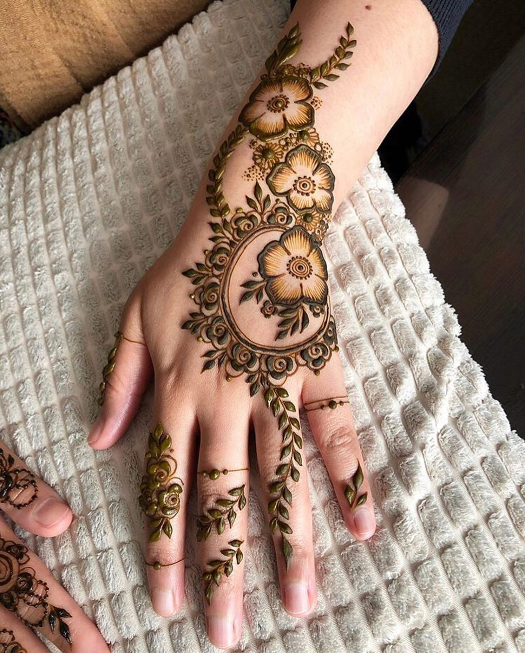 Arabic Dulhan Mehandi Dizain Photos (49)