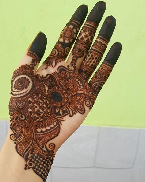 Arabic Dulhan Mehandi Dizain Photos (5)