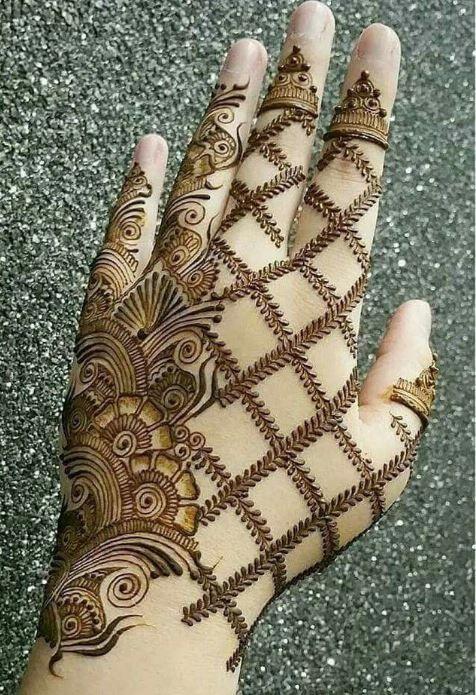 Arabic Dulhan Mehandi Dizain Photos (56)
