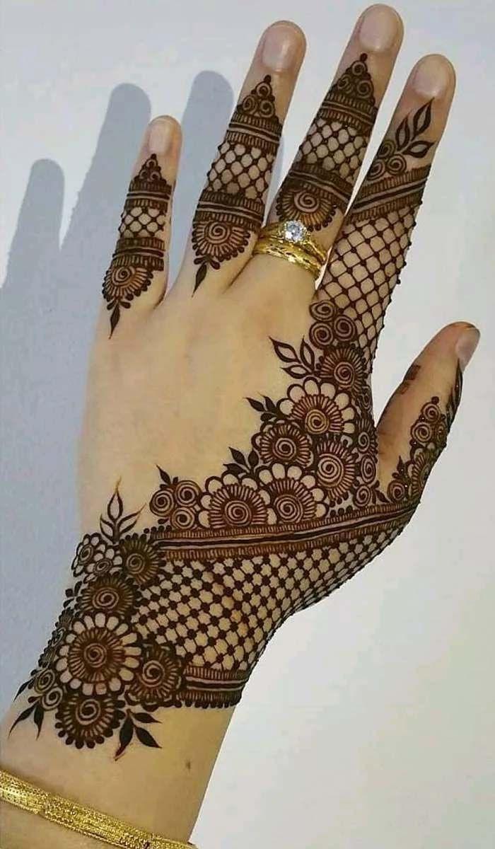 Arabic Dulhan Mehandi Dizain Photos (63)