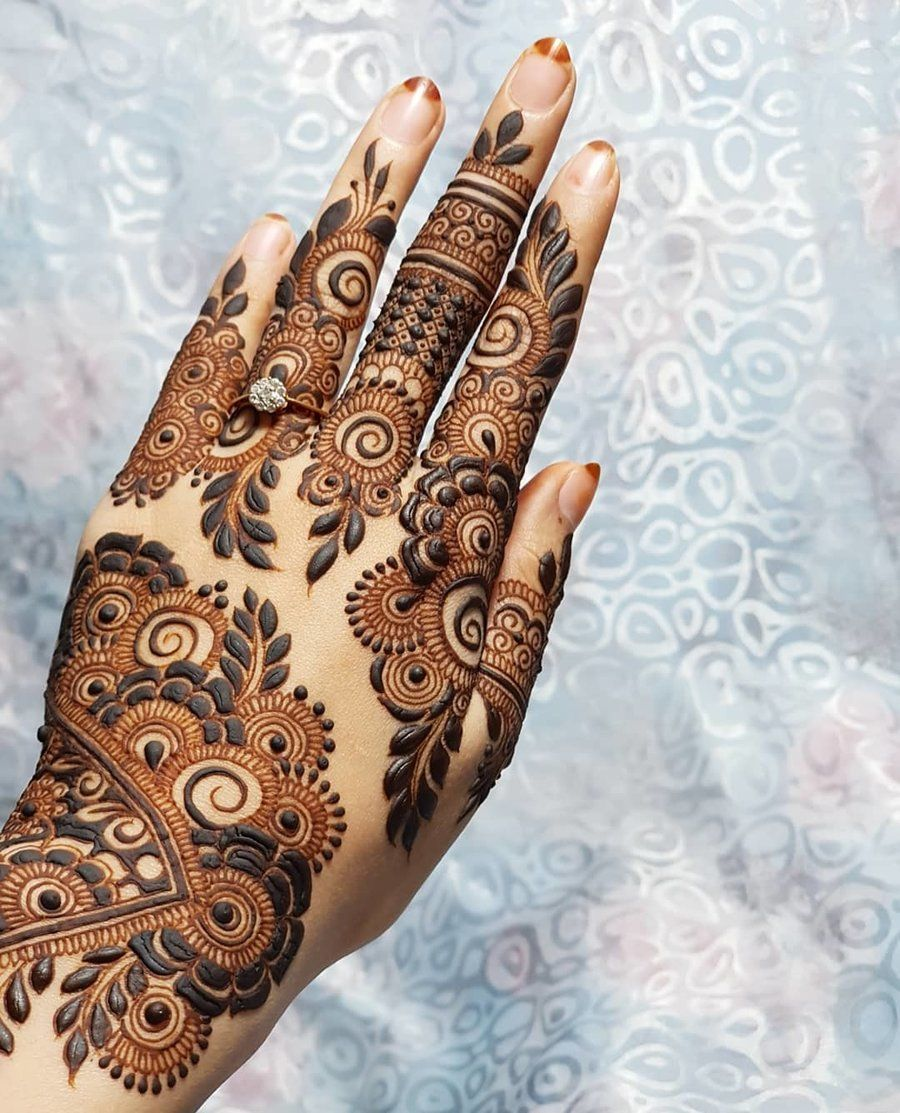 Arabic Dulhan Mehandi Dizain Photos (8)