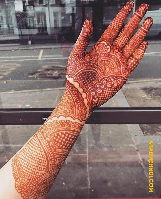 Arabic Dulhan Mehandi Dizain Photos (96)