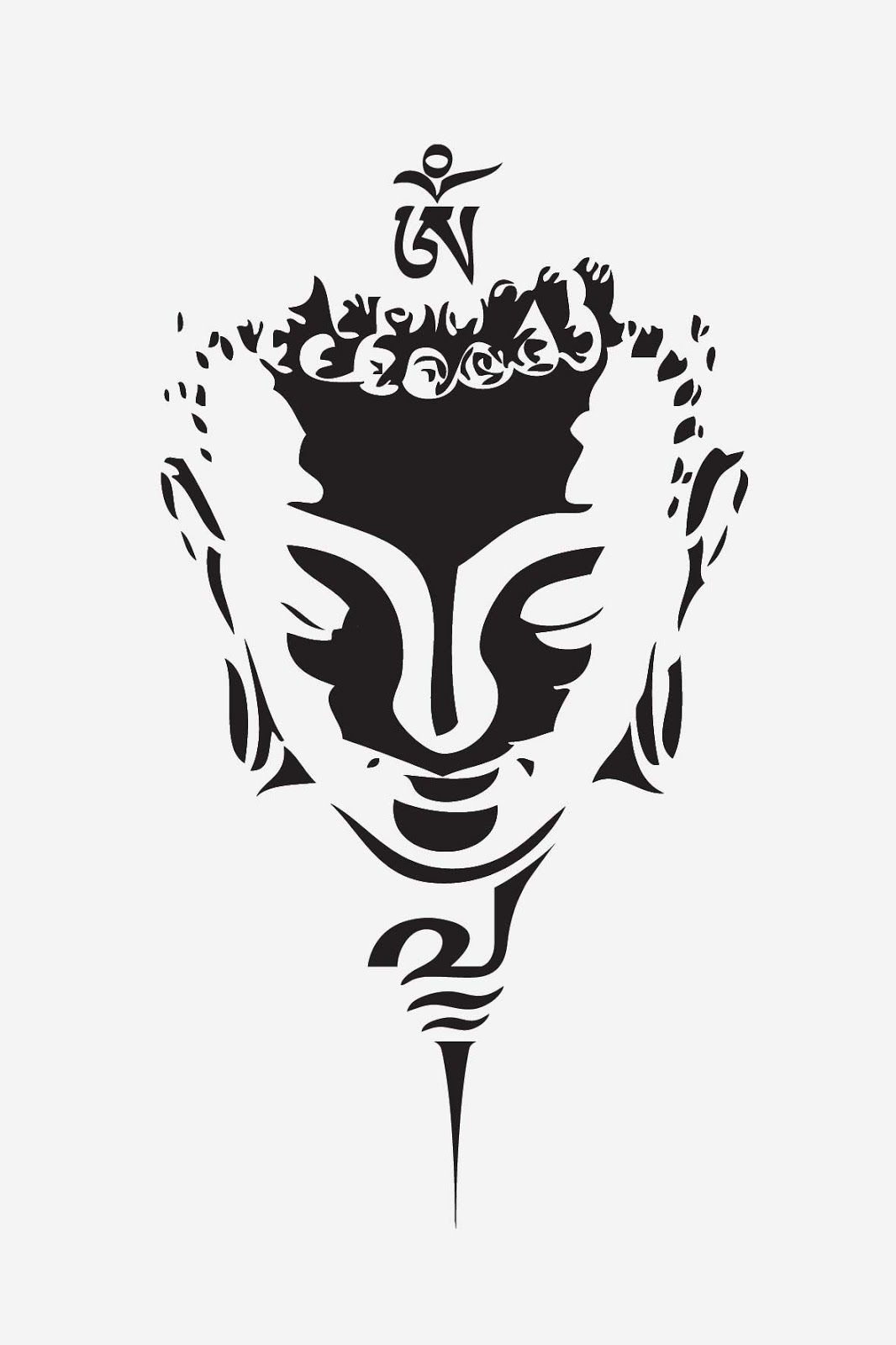 Instant Download Tattoo Design Oriental Buddha 1