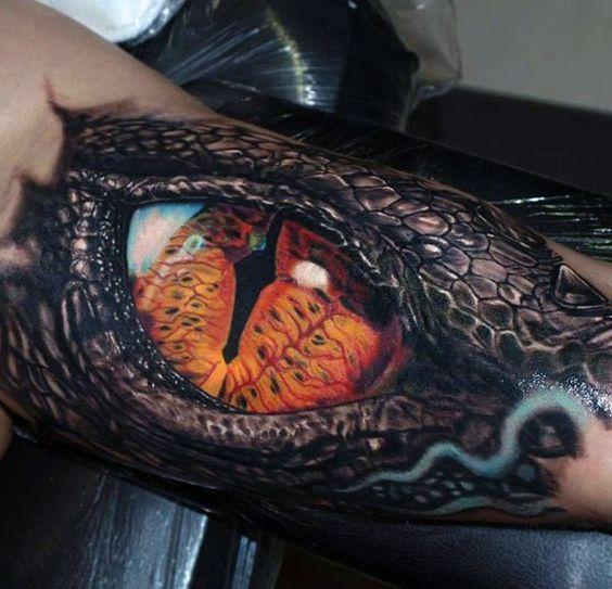 Eyeball Tattoo On Arm (6)