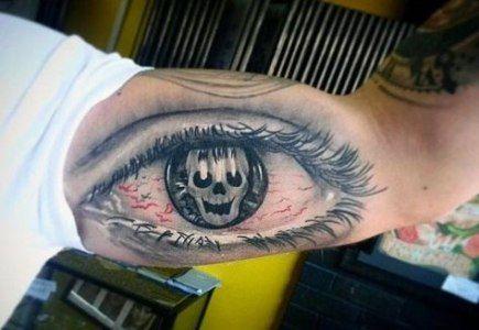 Eyeball Tattoo On Arm (9)