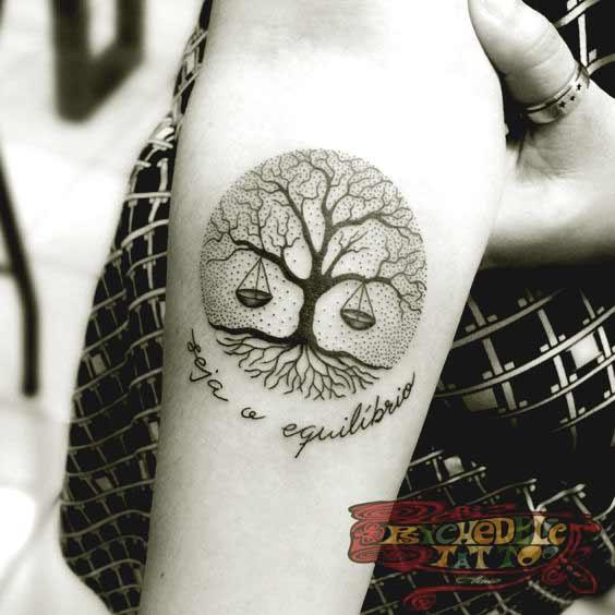 Libra Flower Tattoo (3)