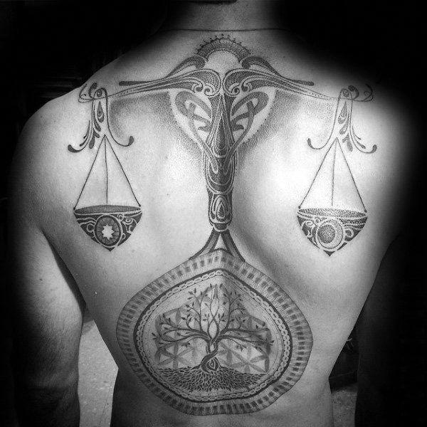Libra Scale Tattoo Designs (7)