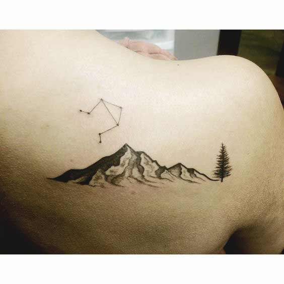 Libra Star Constellation Tattoo (4)