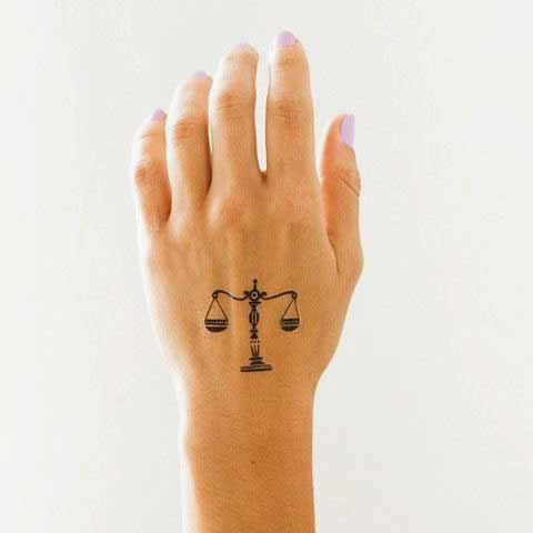 Libra Symbol Tattoo (5)