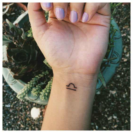 Libra Symbol Tattoo (8)