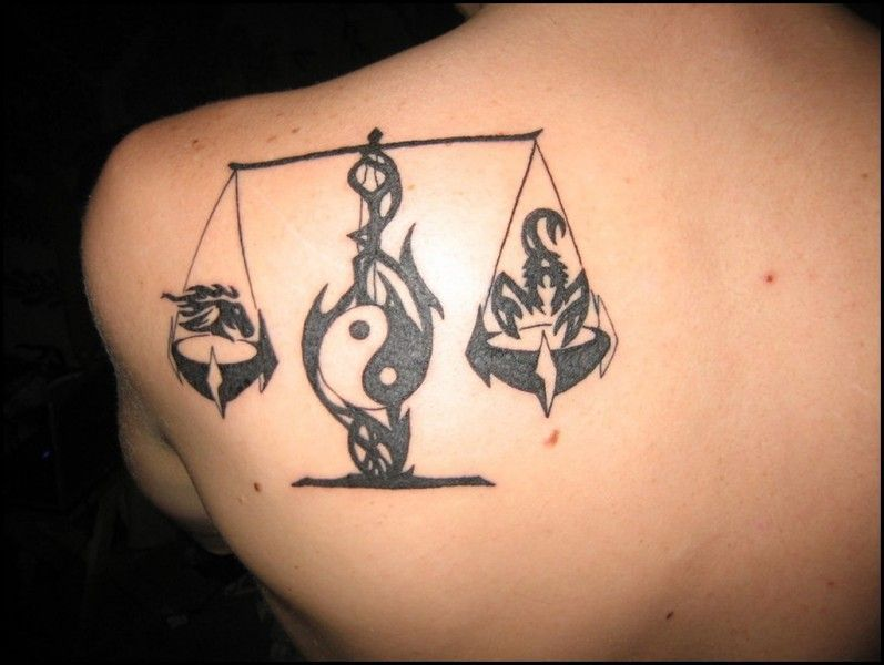 Libra Tattoo Design (9)