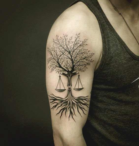 Libra Tattoos On Wrist (7)
