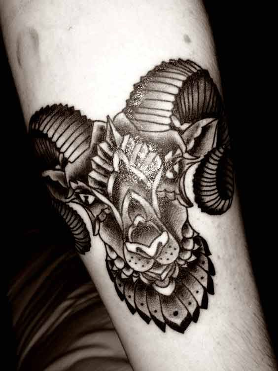 Libra Zodiac Sign Tattoo (3)