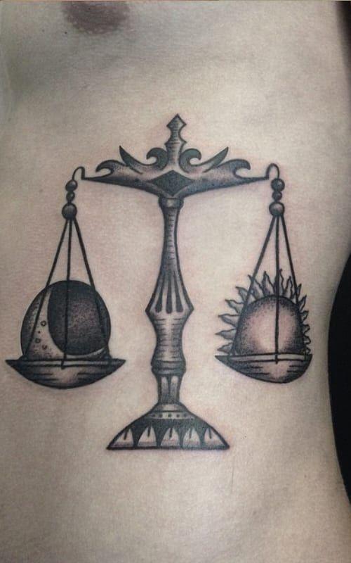 Libra Zodiac Tattoo (2)