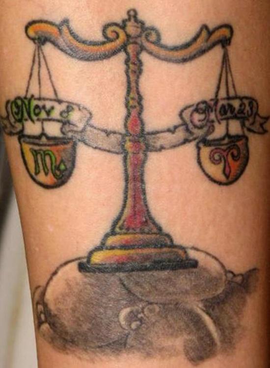 Libra Zodiac Tattoo (5)