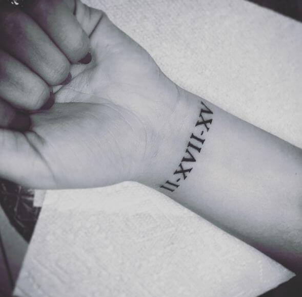 Little Roman Numeral Tattoos