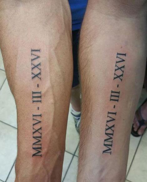 Roman Numeral Tattoo Date Ideas