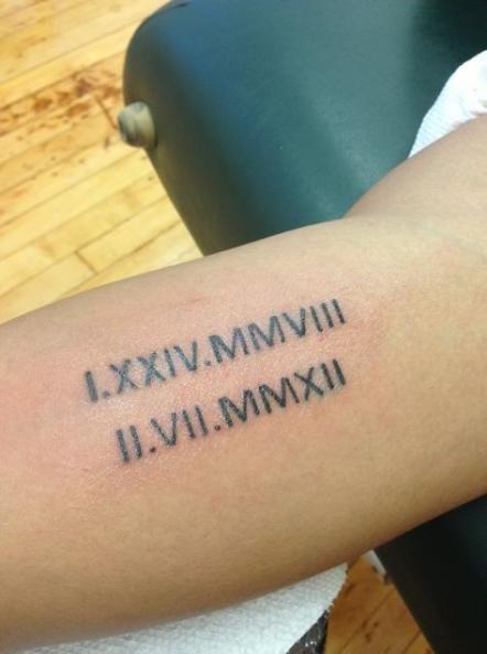 Roman Numeral Tattoo Design Pictures (10)