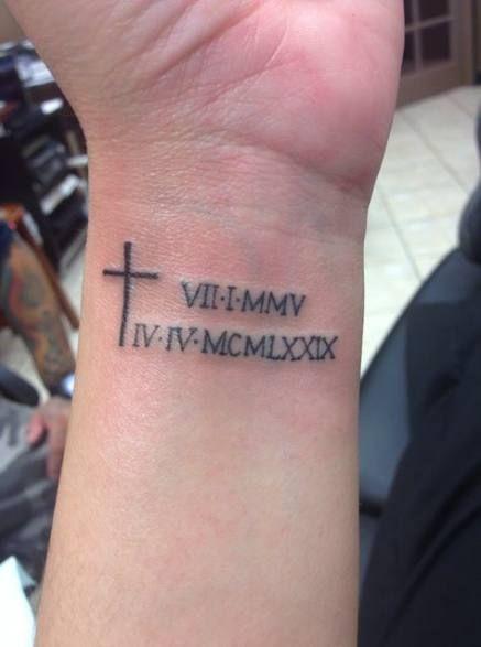 Roman Numeral Tattoo Design Pictures (105)