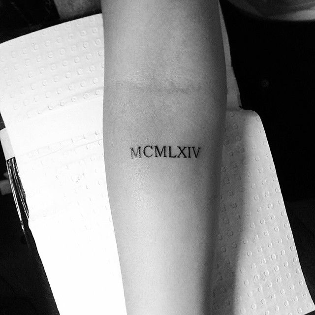Roman Numeral Tattoo Design Pictures (126)