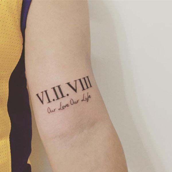 Roman Numeral Tattoo Design Pictures (182)