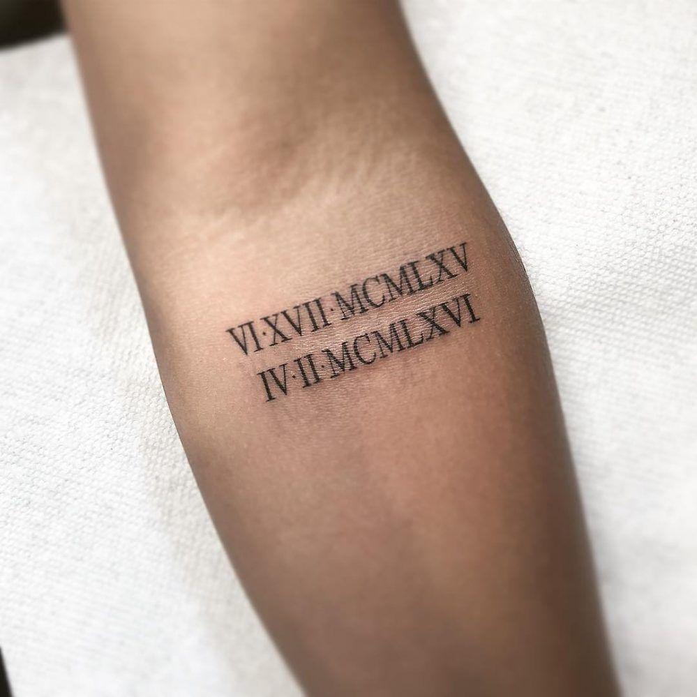 Roman Numeral Tattoo Design Pictures (192)