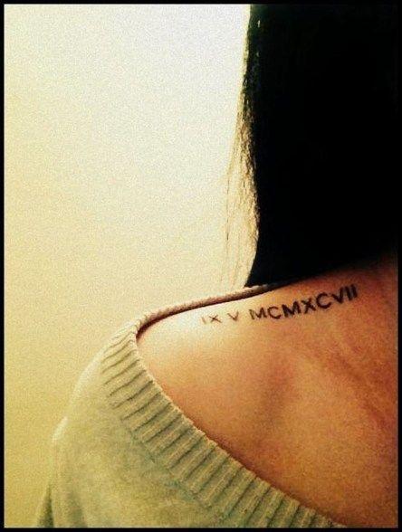 Roman Numeral Tattoo Design Pictures (59)