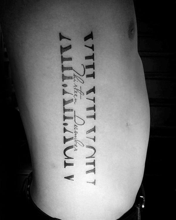 Roman Numeral Tattoo Design Pictures (66)