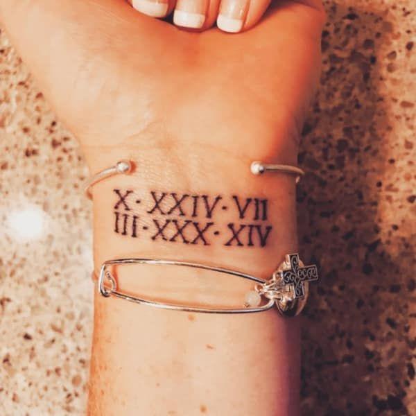 Roman Numeral Tattoo Design Pictures (75)