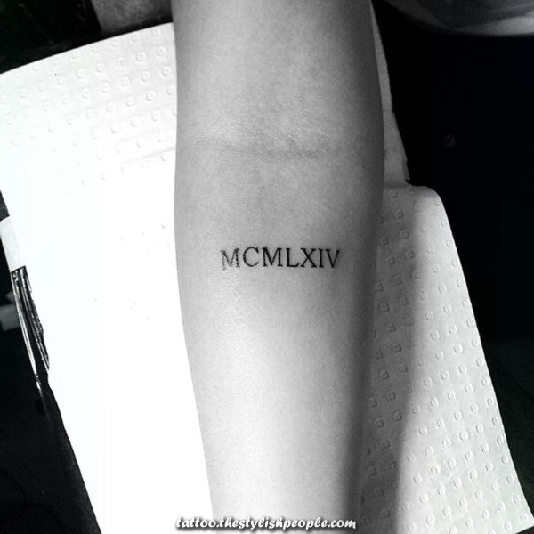 Roman Numeral Tattoo Design Pictures (8)