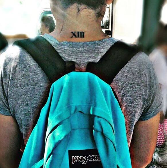 Roman Numeral Tattoos On Neck Back