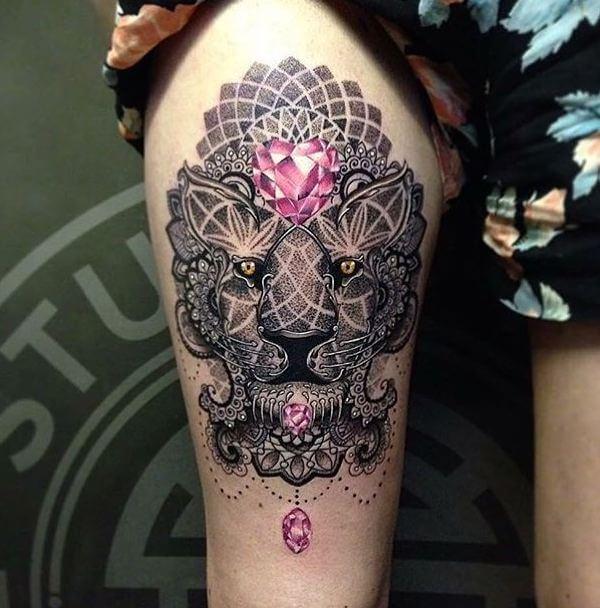 Dot Work Tattoos For Girls