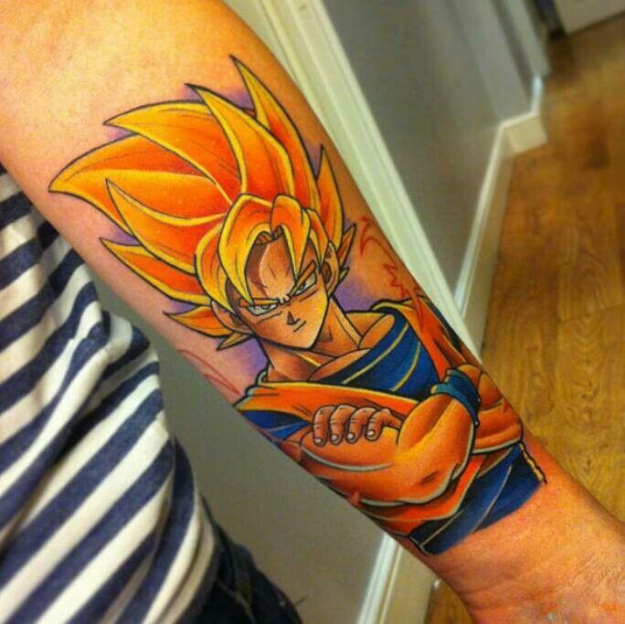 Son Goku Tattoo By Brian Della Constanza Post 26462