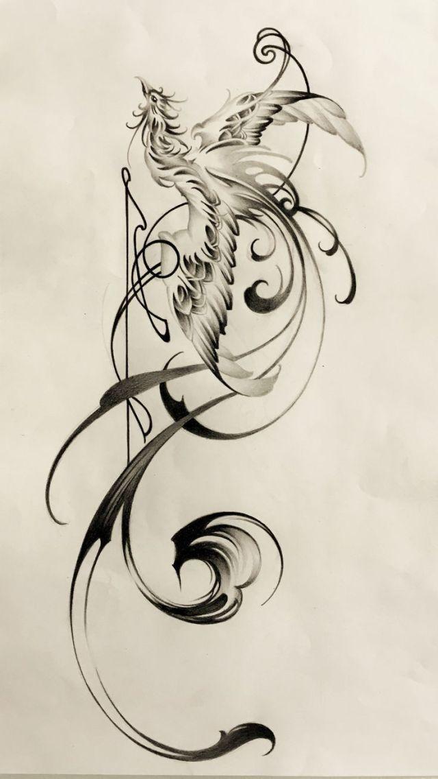 Fenix Tatuaje Masculina Feminina (175)