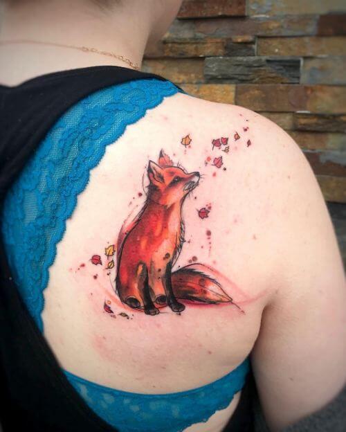 Fox Tattoos For Girls