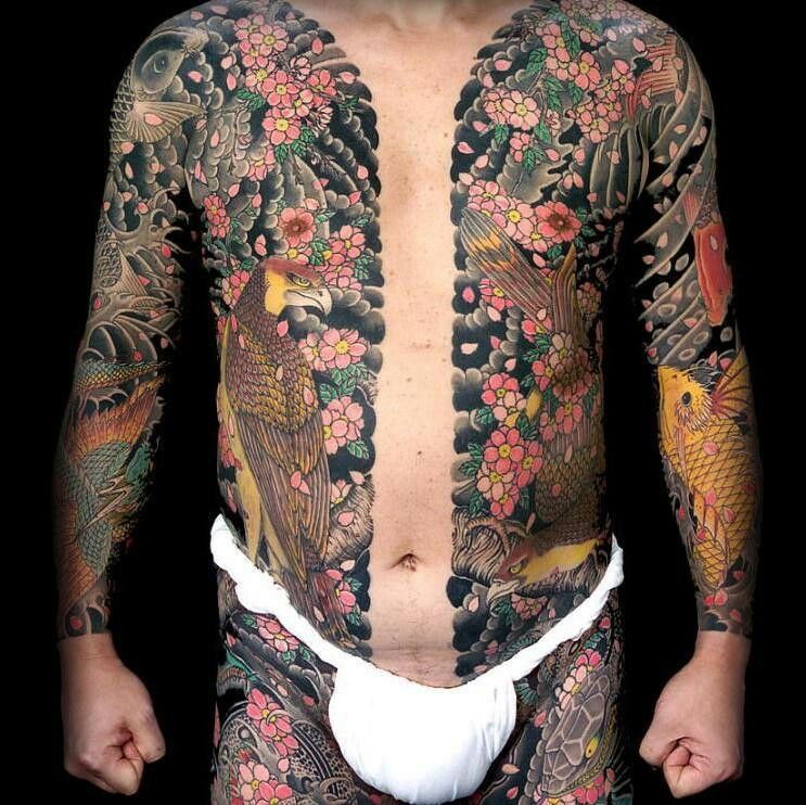 Japanese Gang Yakuza Full Body Tattoo Meanings (11)