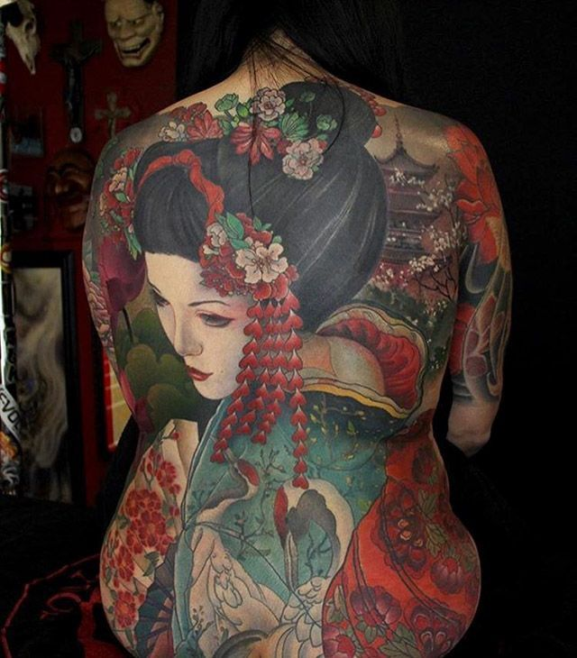 Japanese Gang Yakuza Full Body Tattoo Meanings (12)