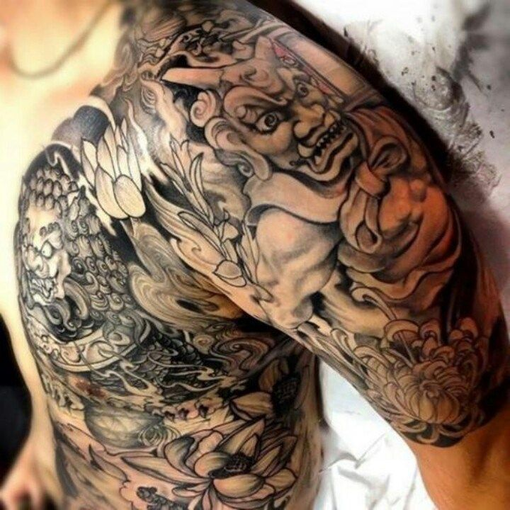 Japanese Gang Yakuza Full Body Tattoo Meanings (125)