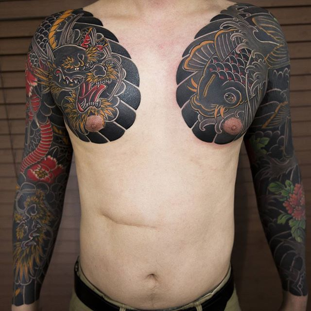 Japanese Gang Yakuza Full Body Tattoo Meanings (126)