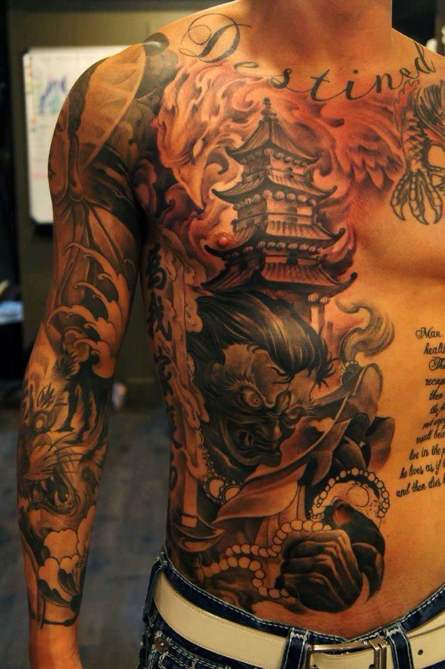 Japanese Gang Yakuza Full Body Tattoo Meanings (128)
