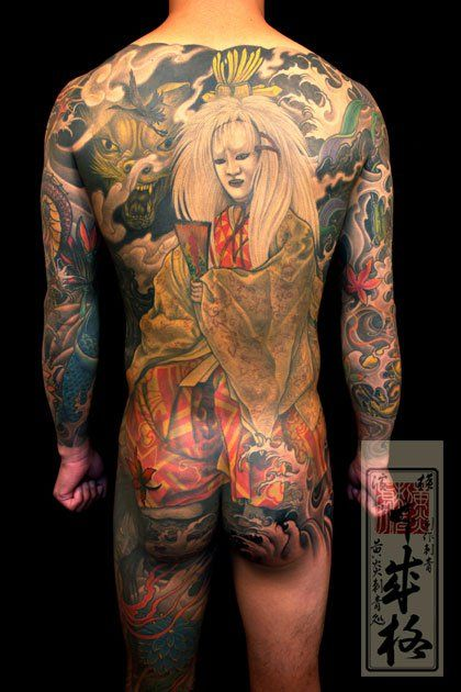 Japanese Gang Yakuza Full Body Tattoo Meanings (138)