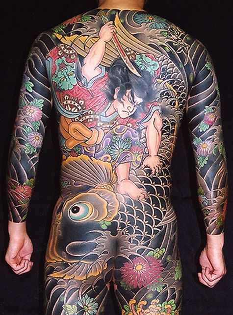 Japanese Gang Yakuza Full Body Tattoo Meanings (143)
