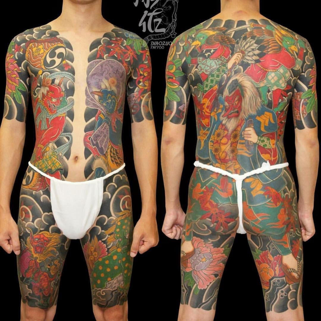 Japanese Gang Yakuza Full Body Tattoo Meanings (154)