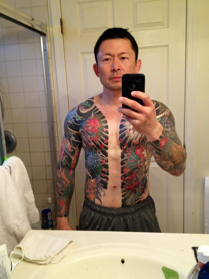Japanese Gang Yakuza Full Body Tattoo Meanings (161)