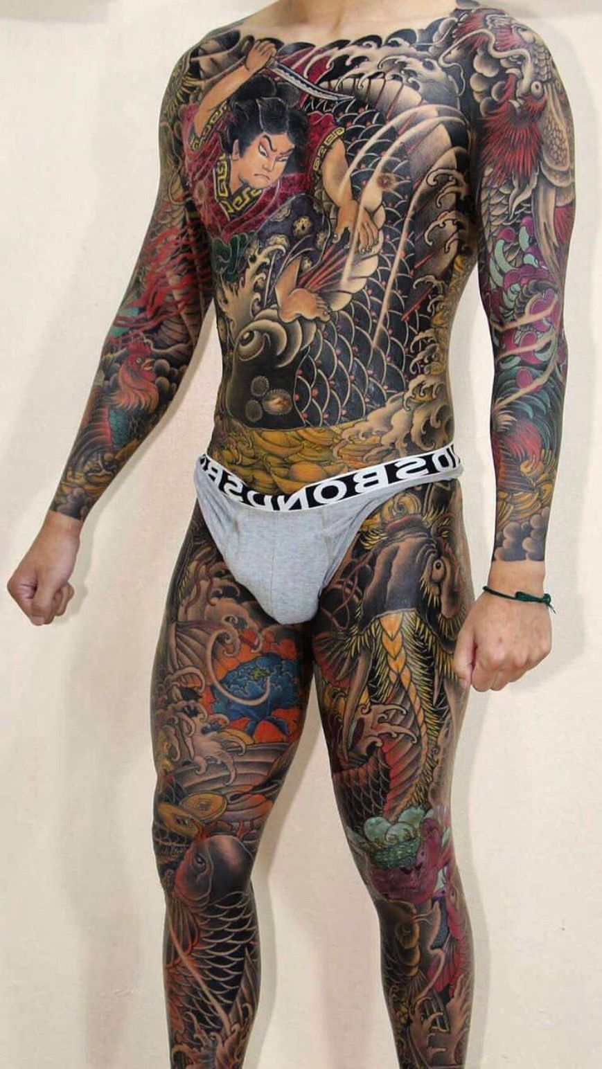 Japanese Gang Yakuza Full Body Tattoo Meanings (168)
