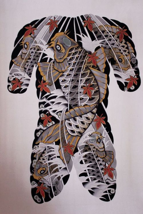 Japanese Gang Yakuza Full Body Tattoo Meanings (184)