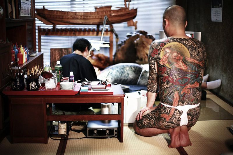 Japanese Gang Yakuza Full Body Tattoo Meanings (195)