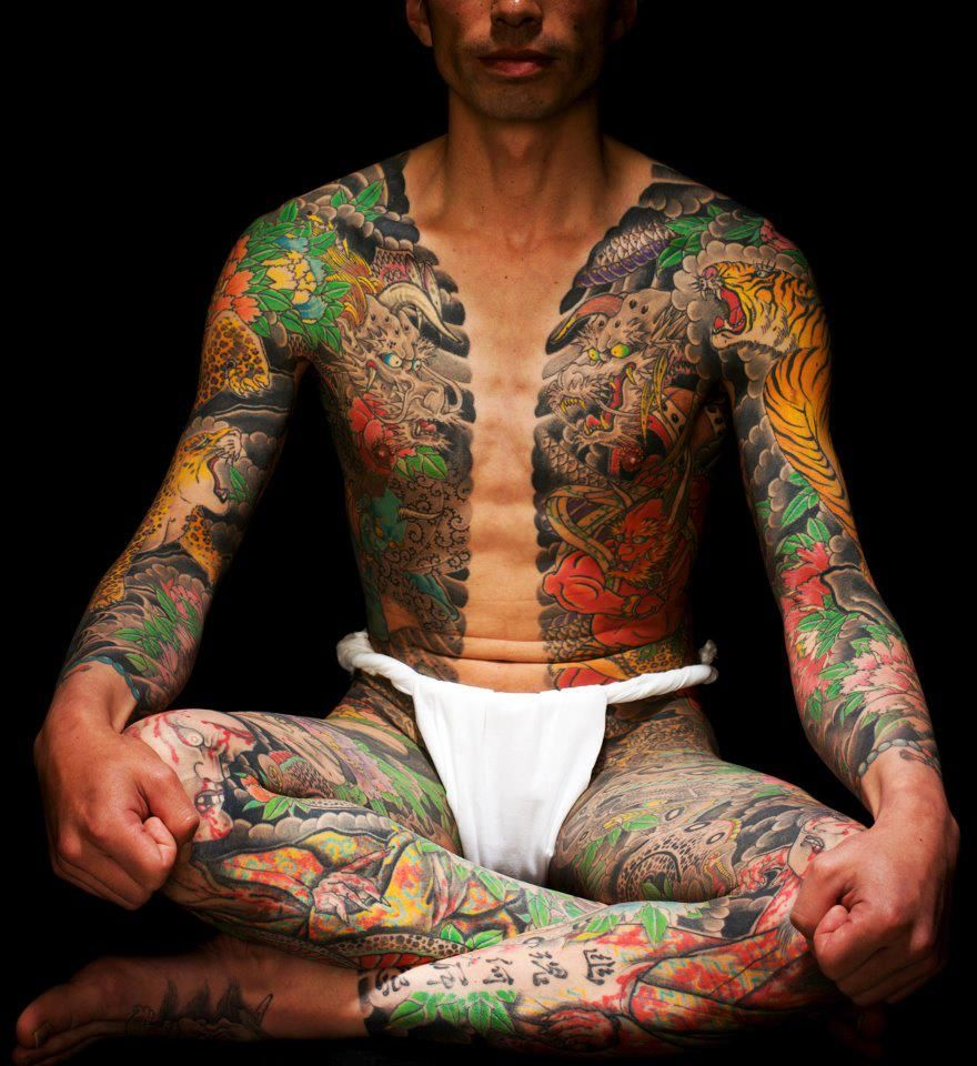 Japanese Gang Yakuza Full Body Tattoo Meanings (216)
