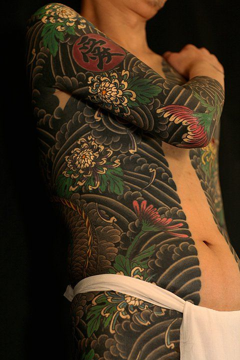 Japanese Gang Yakuza Full Body Tattoo Meanings (220)
