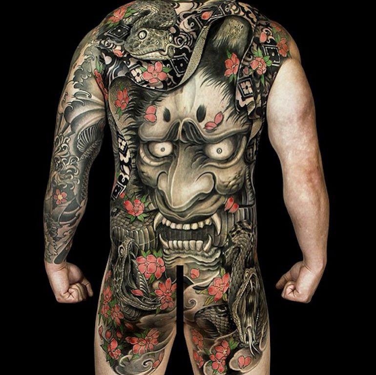 Japanese Gang Yakuza Full Body Tattoo Meanings (221)